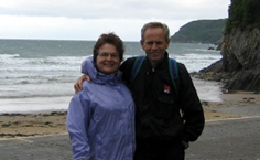 Janice and Ron on a SeeWales tour