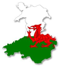 Wales dragon flag